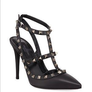 RARE Valentino Noir Rockstud Heels, Sz 38.5